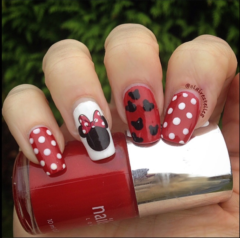 Minnie Mouse Nails - Minnie Mouse Nails Nail Art By Claire O'Sullivan - Nailpolis: Museum
