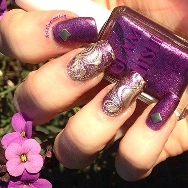 Glam Polish Watermarble nail art by Claire O'Sullivan