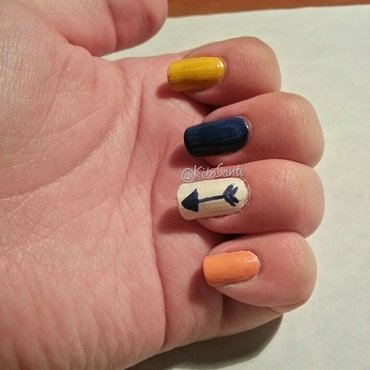 November challenge day 3 Arrows  nail art by KiboSanti