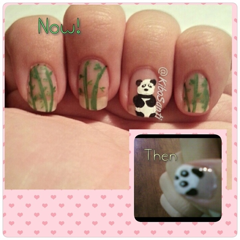 November challenge day 6 Throwback nail art by KiboSanti