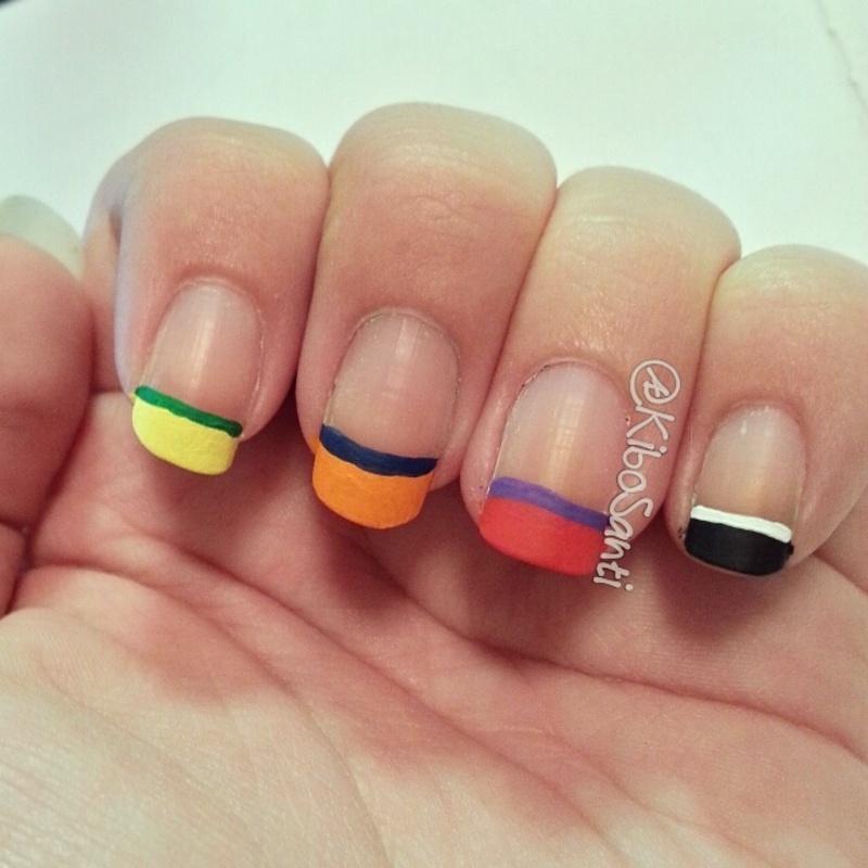 November challenge day 19 French with a Twist nail art by KiboSanti