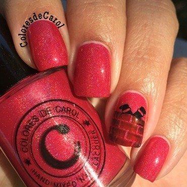 Stuck In The Chimney nail art by Carolina Garcia