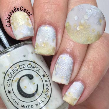 Blizzard nail art by Carolina Garcia