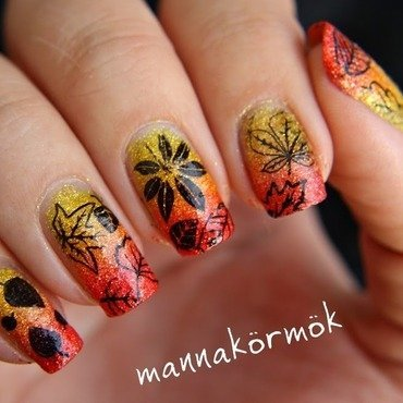 fall nail art nail art by Marianna Kovács