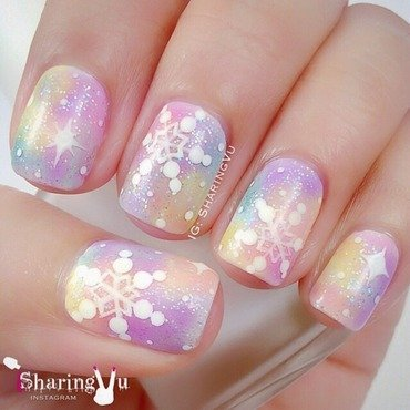 ❄️✨ Galaxy Snowflake ✨❄️ nail art by SharingVu