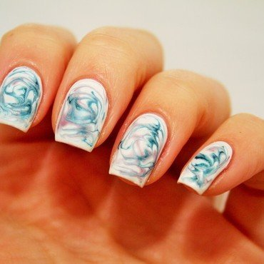 Dry marble nail art by Jane