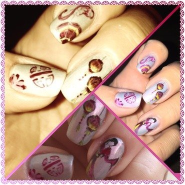 Chinese nail art by Elodie Mayer