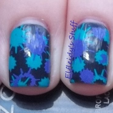 Splat! nail art by Jenette Maitland-Tomblin