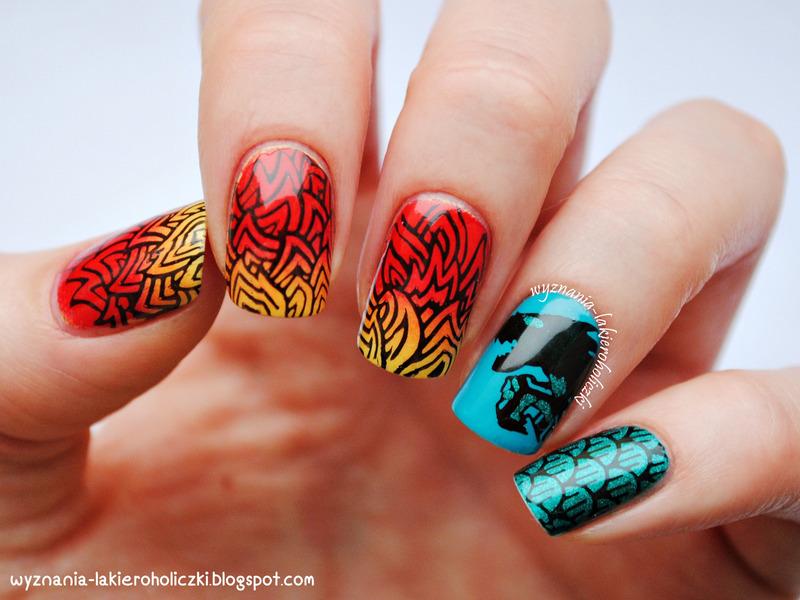 Dragon nail art by Olaa