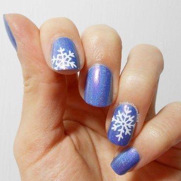 Snowflakes nail art by Polishisthenewblack