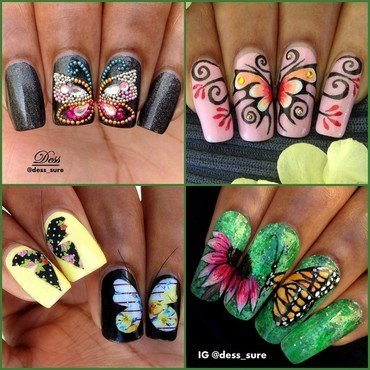 Flutter  nail art by Dess_sure