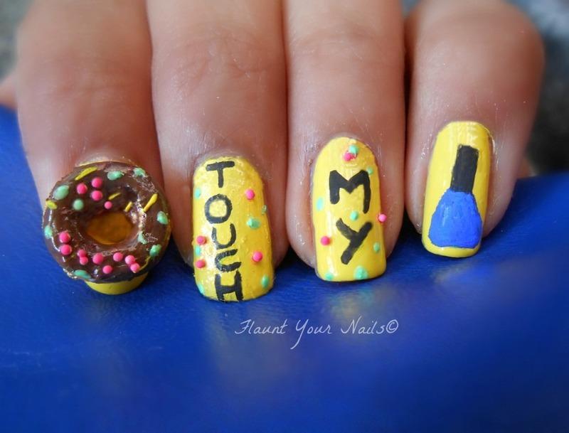 Donut Touch My Nail Polish! nail art by Vidula Kulkarni