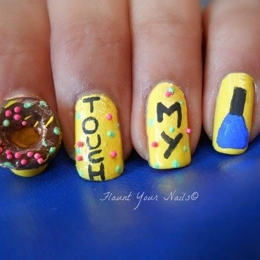 Donut Touch My Nail Polish! nail art by Vidula Kulkarni