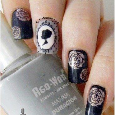 Lady Gray nail art by Yami