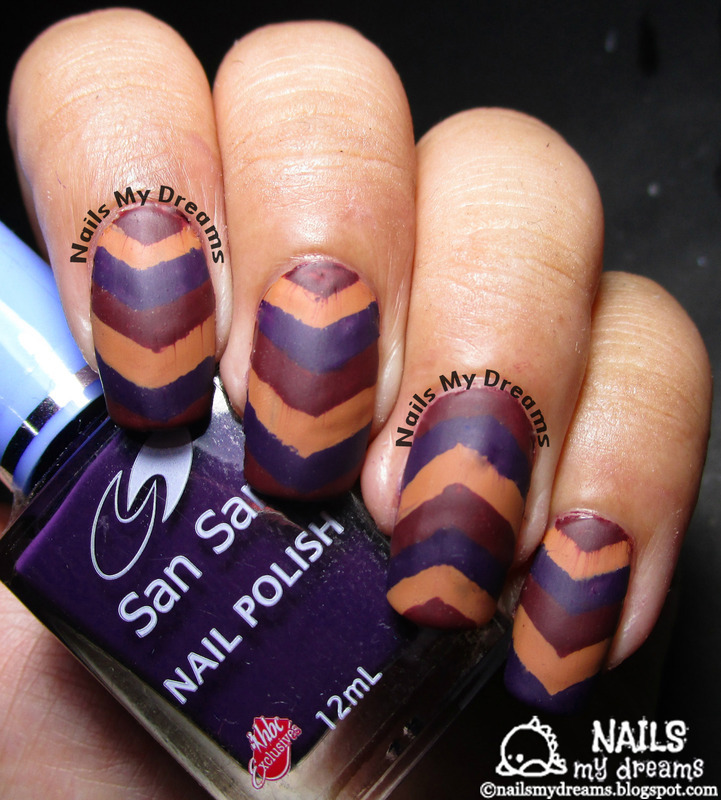 Gorgeous Autumn Inspired Nails: Fall Inspired Chevron Nail Art Nail Art By Kat Of