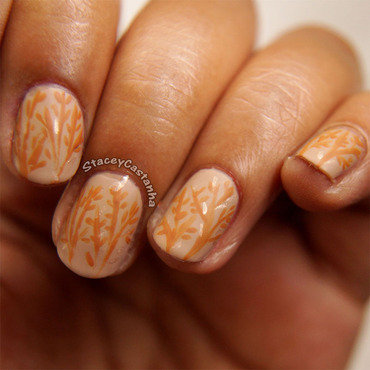 Delicate Autumn Woods nail art by Stacey  Castanha