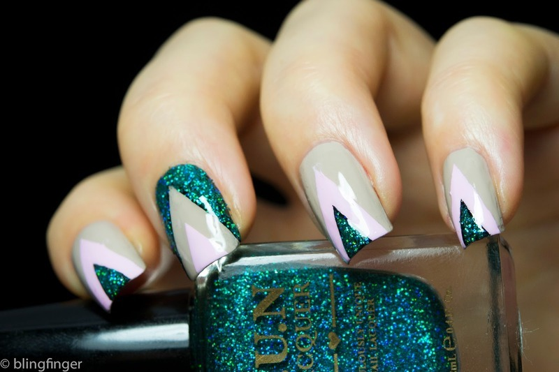 Holo Triangle nail art by  Petra  - Blingfinger