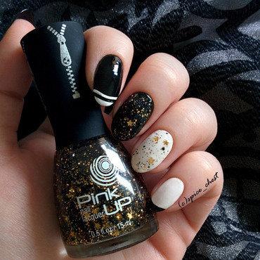 Glam Rock \m/ nail art by Svetlana