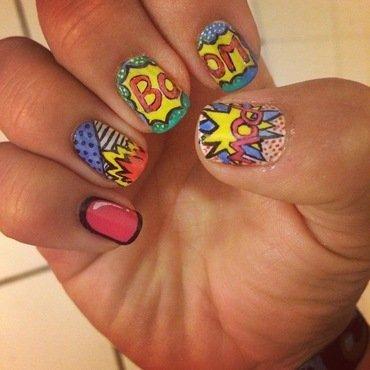 pop art & comic  nail art by The_Roadrunner