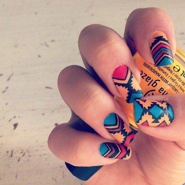 aztec  nail art by The_Roadrunner
