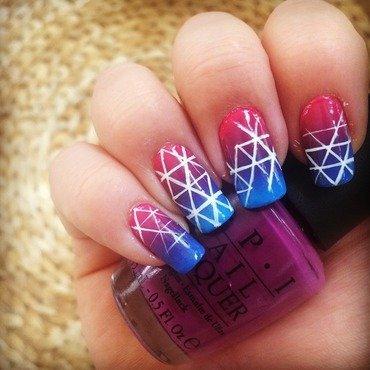 Pink'n'blue gradients  nail art by The_Roadrunner