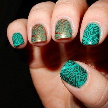 Aztec mani nail art by Agni