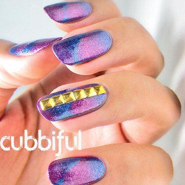Scalled gradient nail art thumb370f
