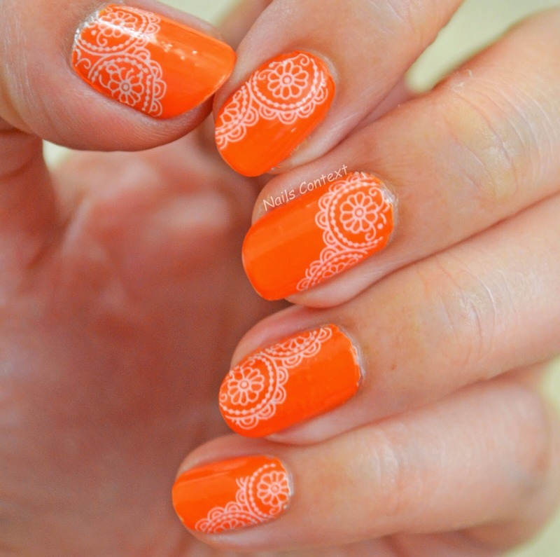 Lace Water Decals nail art by NailsContext