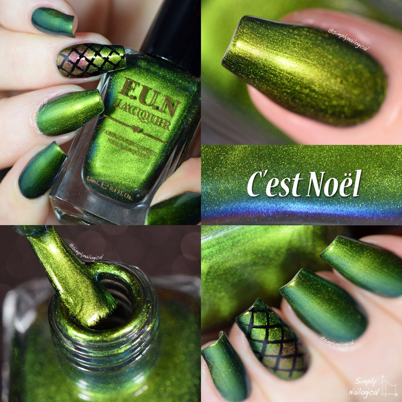Fun Lacquer C'est Noel Swatch by simplynailogical