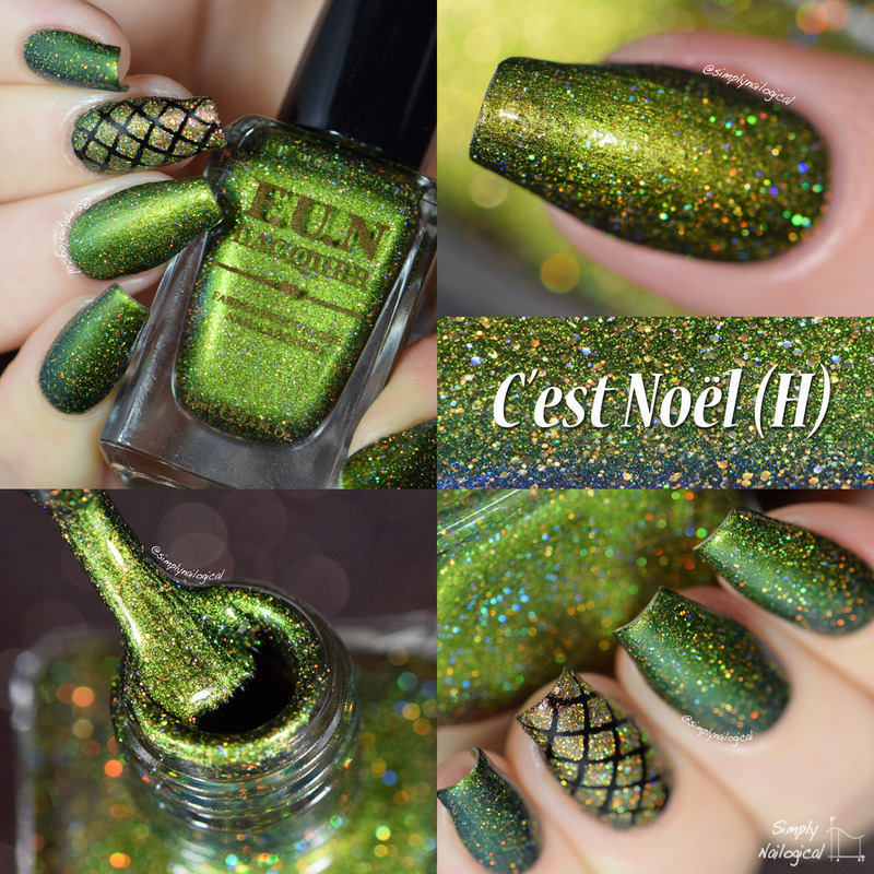 Fun Lacquer C'est Noel (H) Swatch by simplynailogical