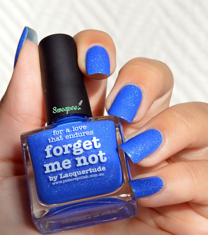 piCture pOlish Forget Me Not Swatch by Sweapee