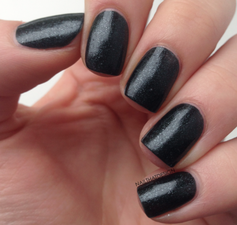 Appeal4 Black Lily Swatch by NailThatDesign