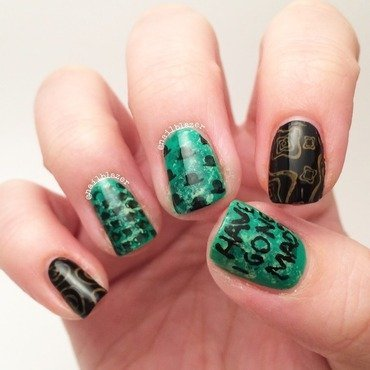 Mad Hatter nail art by Nailblazer