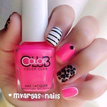 Pink mix  nail art by Massiel Pena