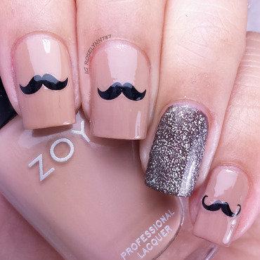Movember Mani  nail art by Rose Mercedes