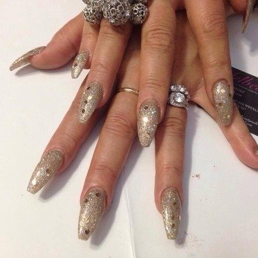 Bling nail art by mel