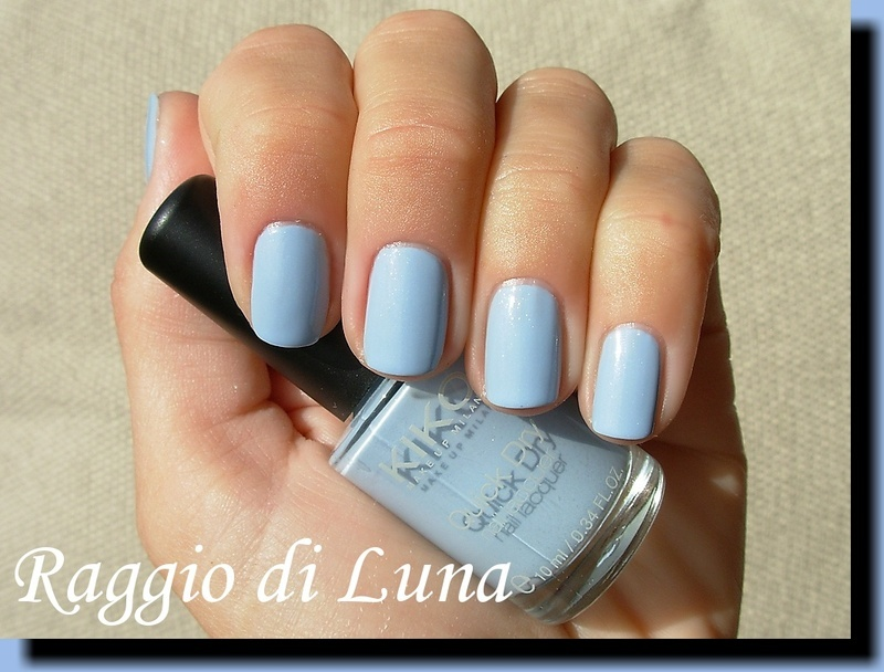 Kiko Quick Dry n° 849 Pearly Antique Blue Swatch by Tanja
