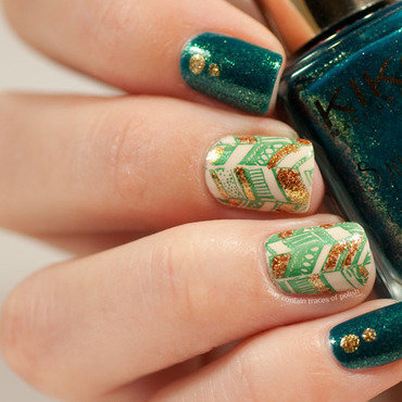 26 green and gold chevron messy mansion mm12 thumb370f