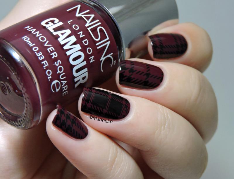Plaid nails nail art by Marine Loves Polish