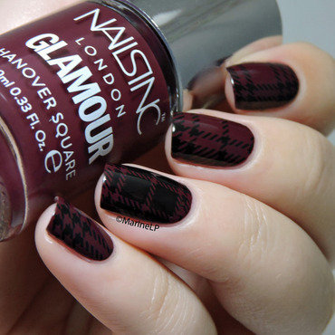 Plaid nails nail art by Marine Loves Polish
