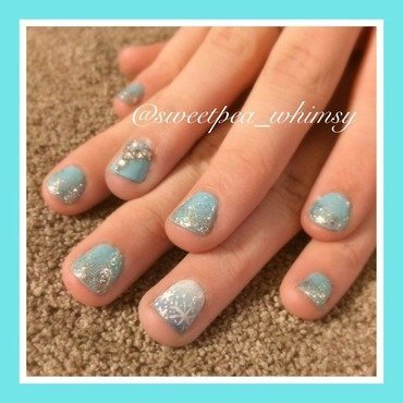Elsa/Frozen Inspired Nails nail art by SweetPea_Whimsy