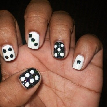 Sparkly Dice nail art by Toni Nailed It