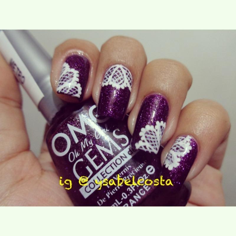 Lace nail art nail art by Katrina Ysabel Costa