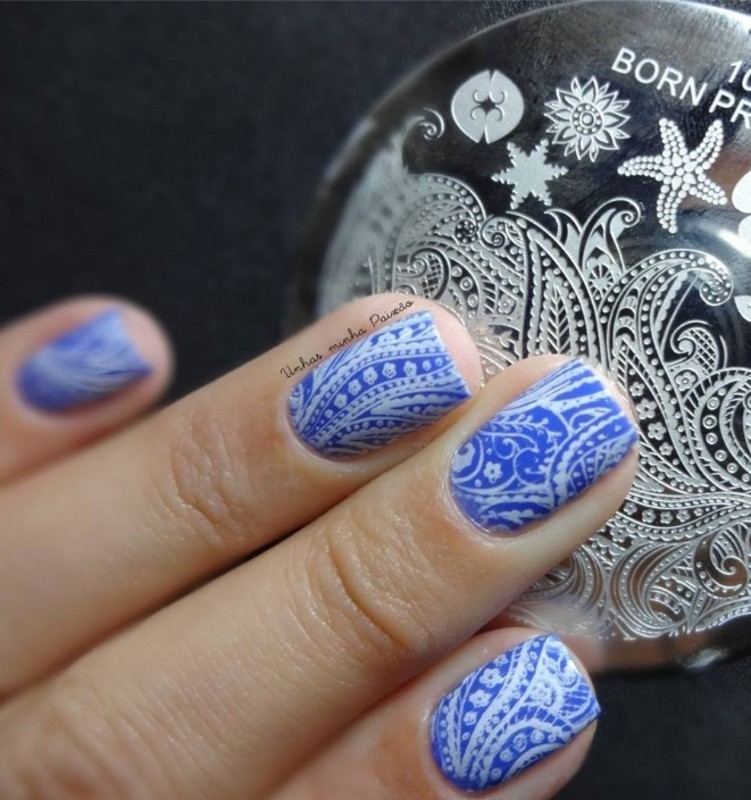 Fancy Arabesque Stamping Nails nail art by Born Pretty