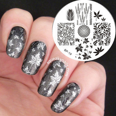 Amazing Shimmer Maple Stamping Nails nail art by Born Pretty