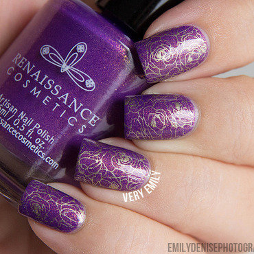 Kensington Stamping nail art by Very Emily