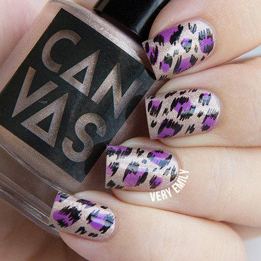 Ikat Leopard Nails nail art by Very Emily