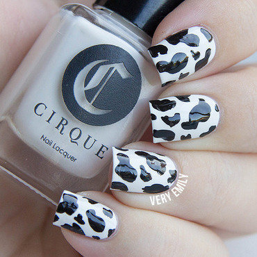 Cow Print Nails nail art by Very Emily