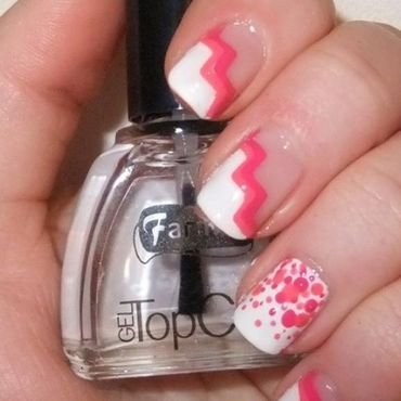 Think pink nail art by Iulia