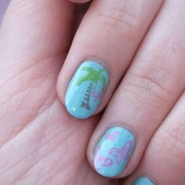 Tropical Nails nail art by Iulia